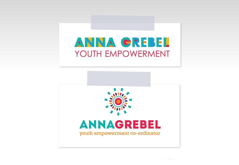 anna grebel logo design s