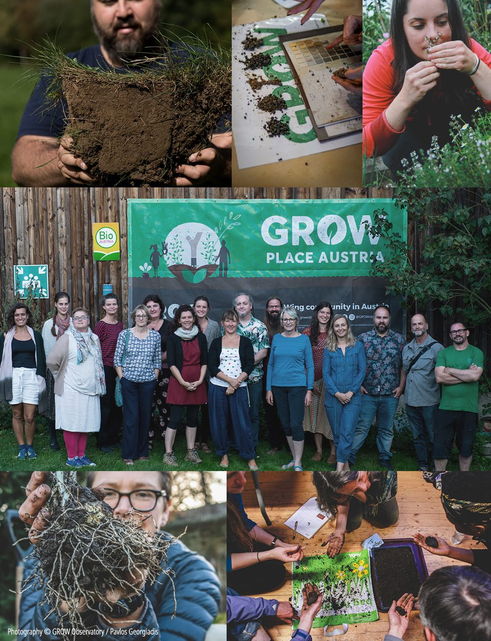 GROW photo collage